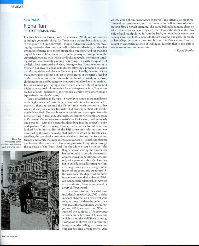 Artforum, Peter Freeman (Publications)