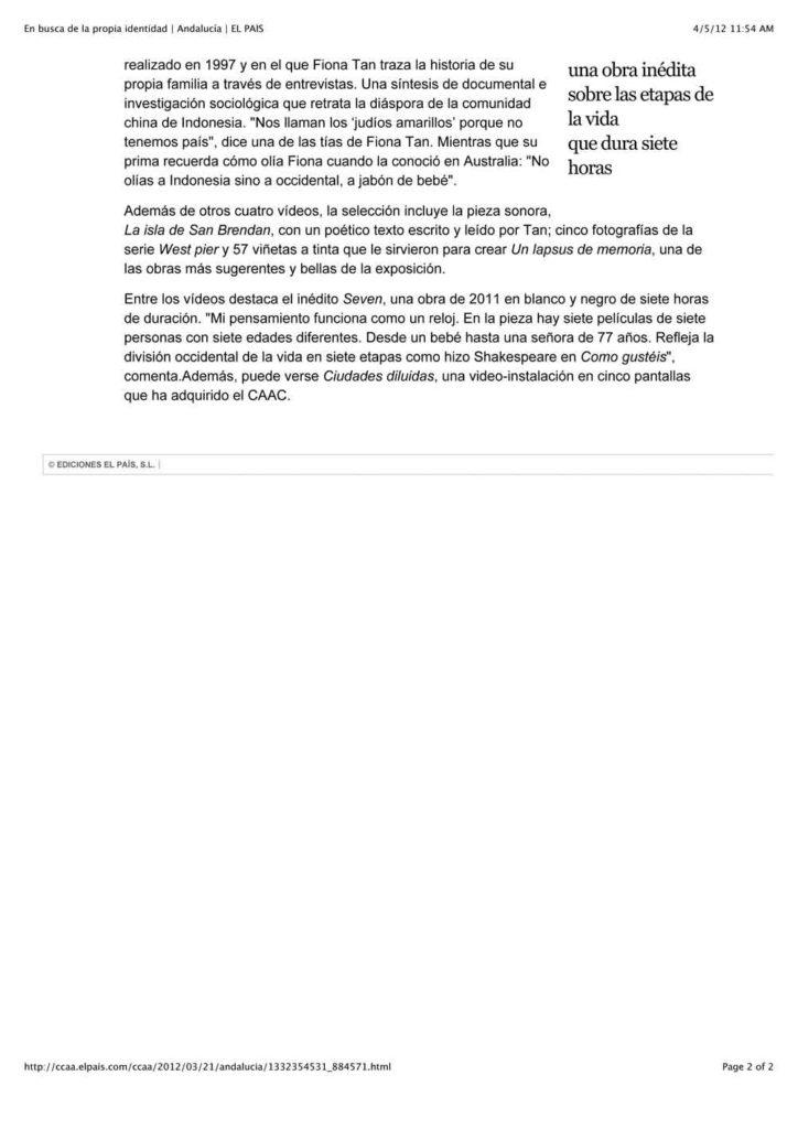 El Pais, Andalucia (Publications)