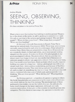 Seeing, Observing, Thinking (Publications)