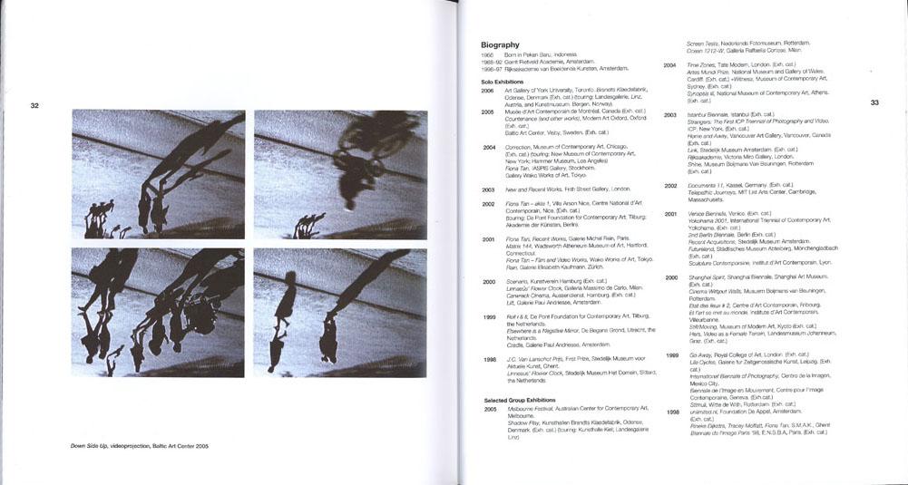 BAC-Fiona Tan (Publications)