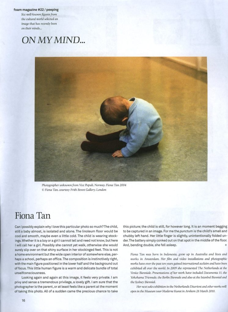 Foam Magazine #22: On my mind (Publications)