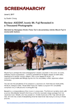 Screen Anarchy, Ascent review (Publications)