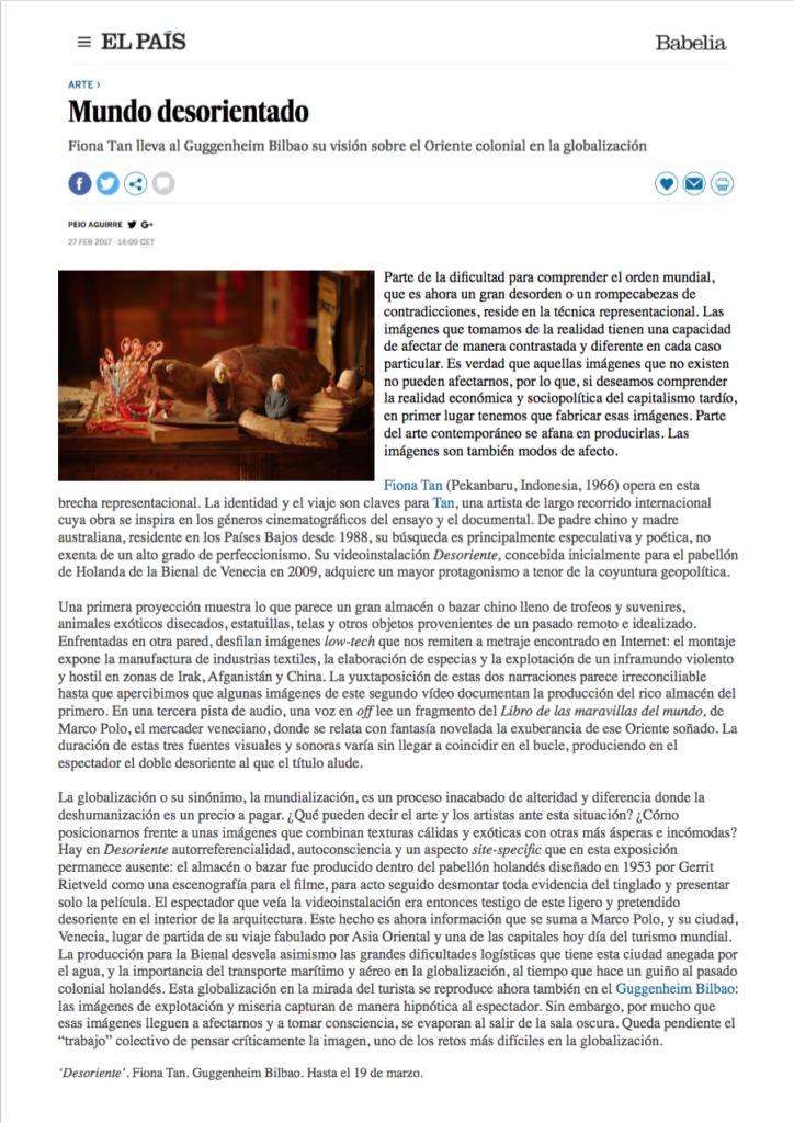 El Pais, Guggenheim (Publications)