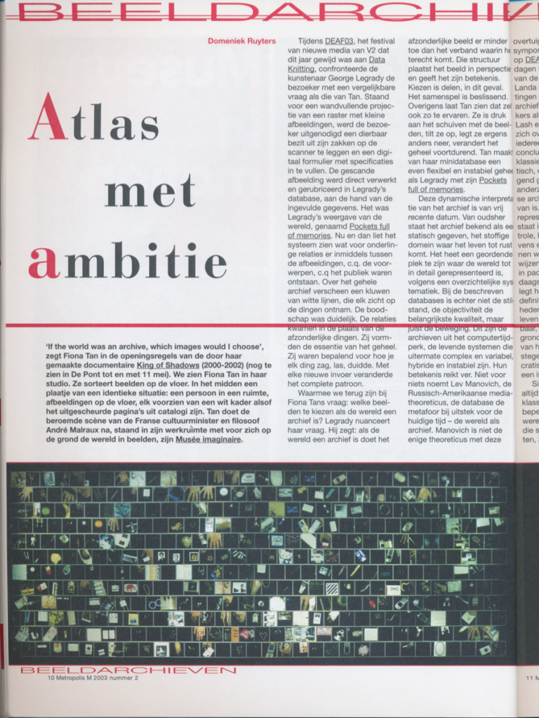 Metropolis M, Akte 1 (Publications)