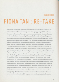 Fiona Tan : Re-take (Publications)