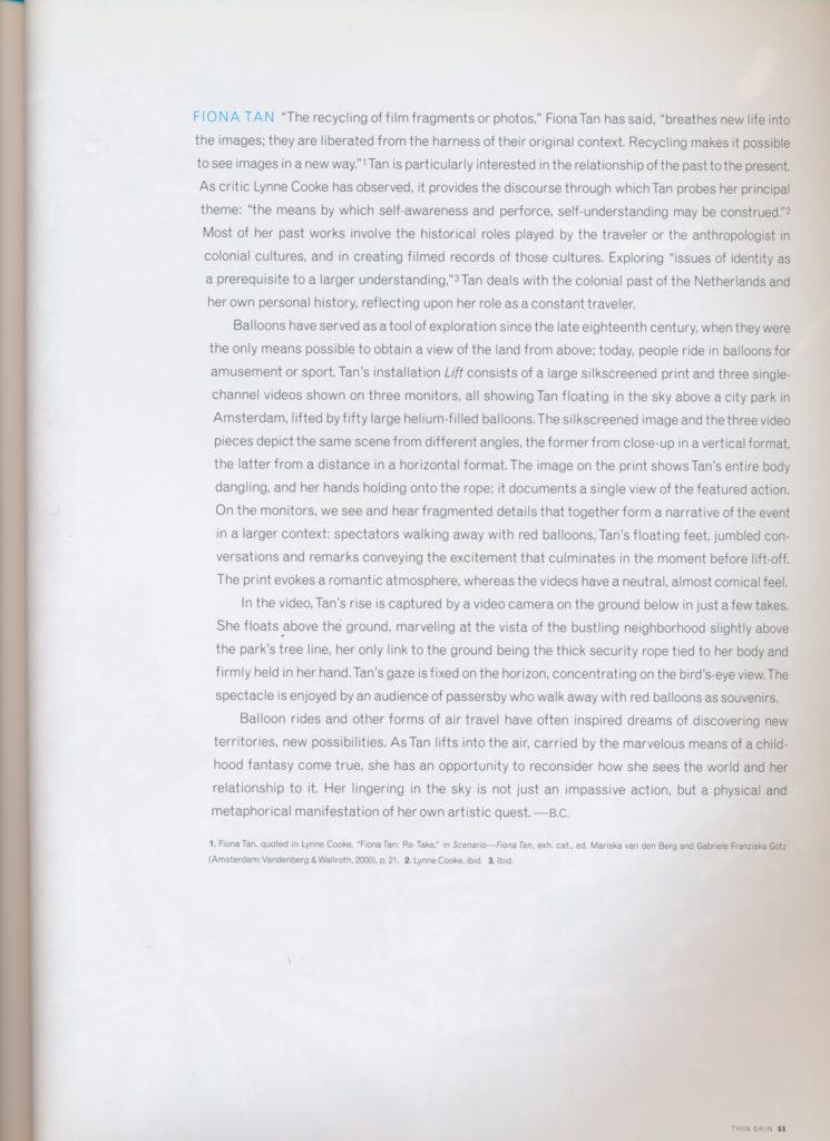 Thin Skin (Publications)