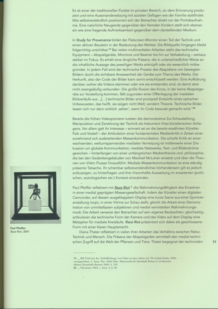 Excerpt from The Sculptural Potential of Multi-Media Works (Publications)