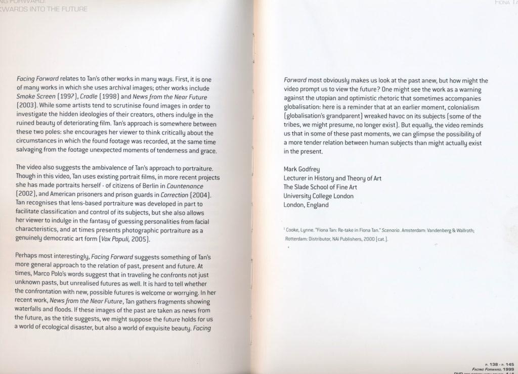 Facing Forward: Backwards in the Future (Publications)