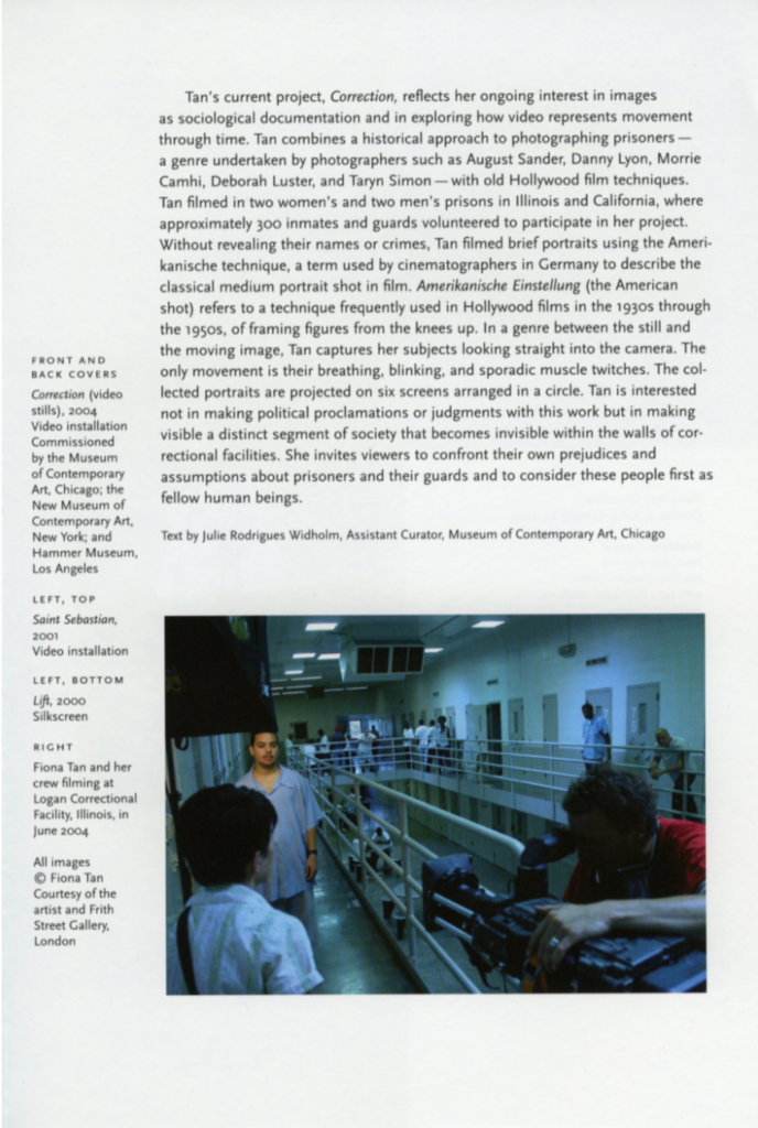 Correction, MCA, Chicago (Publications)