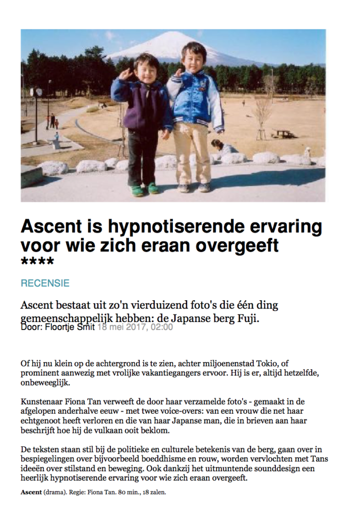 Volkskrant, Ascent Review (Publications)